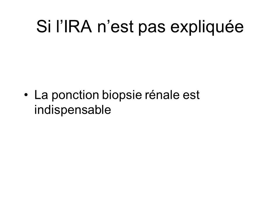 Si lIRA nest pas expliquée La ponction biopsie rénale est indispensable
