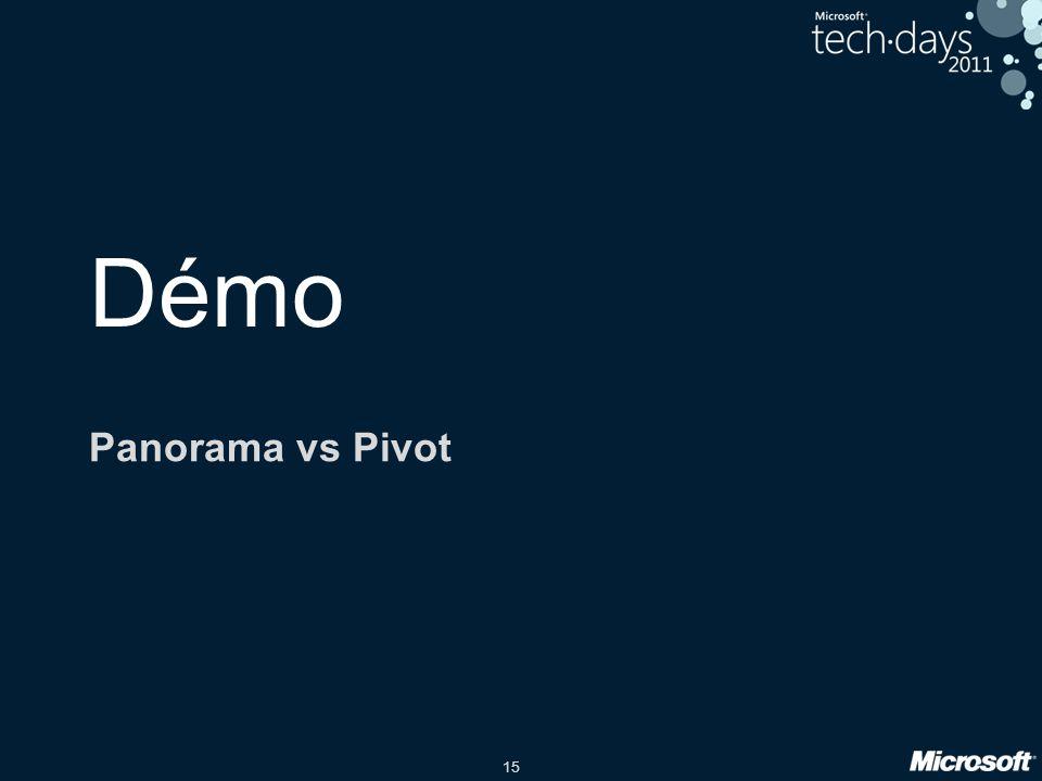 15 Démo Panorama vs Pivot