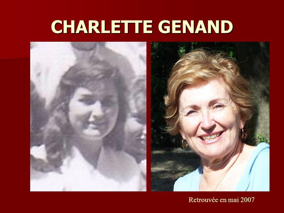 CHARLETTE GENAND Retrouvée en mai 2007