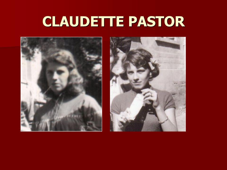 CLAUDETTE PASTOR