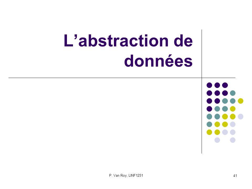 P. Van Roy, LINF1251 41 Labstraction de données