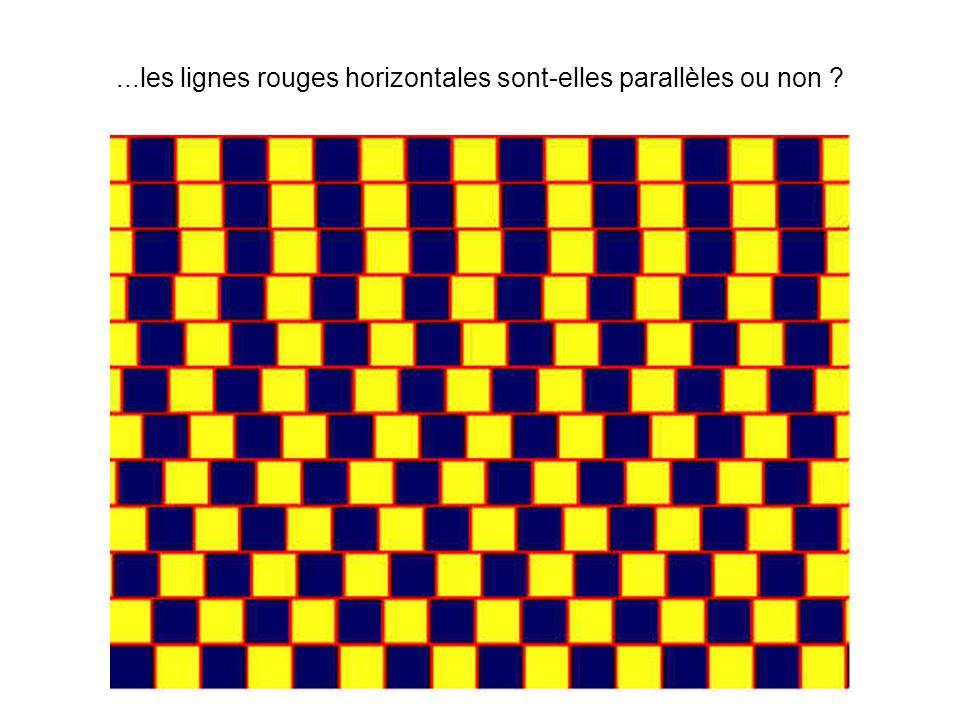 ...les lignes rouges horizontales sont-elles parallèles ou non ?
