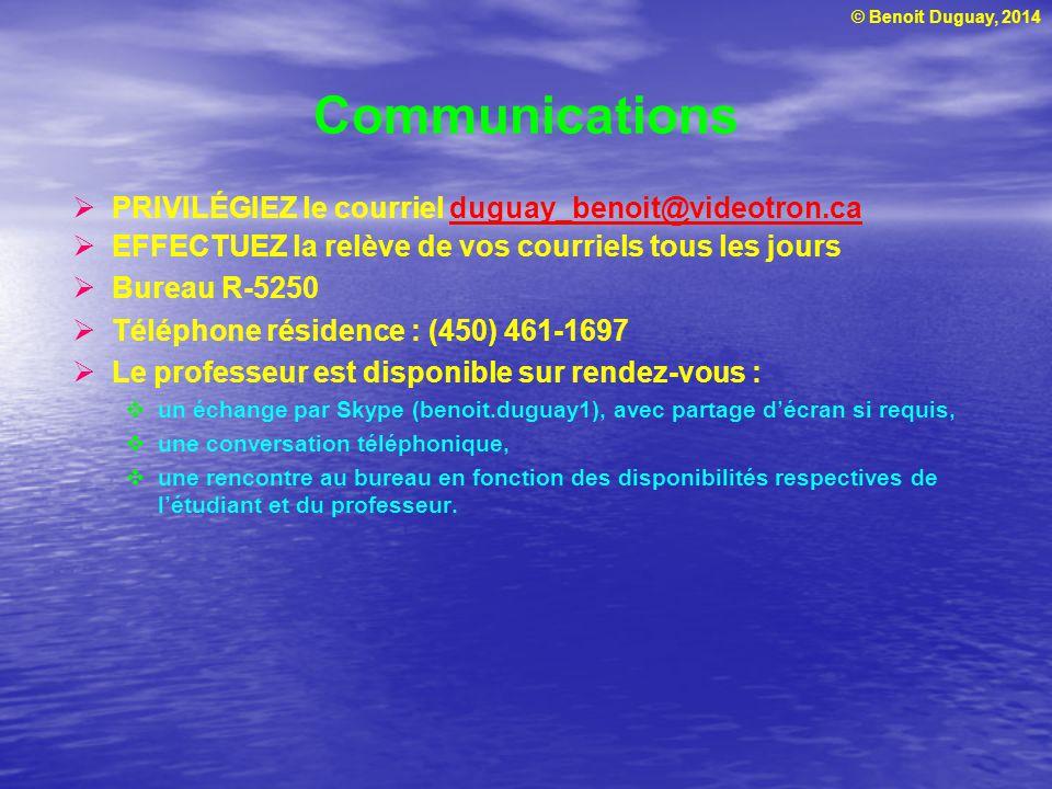 © Benoit Duguay, 2014 Plan la séance 1 AM Introduction à la gestion de projet Plan de cours Concepts de gestion de projet Identification des besoins Lappel doffres