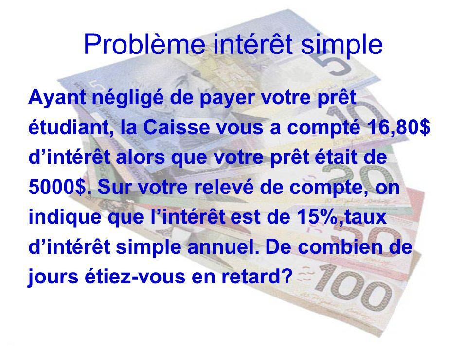 Formule intérêt composé m: le nombre de capitalisations par année n : le nombre dannées i : le taux dintérêt exprimé sur une base annuelle
