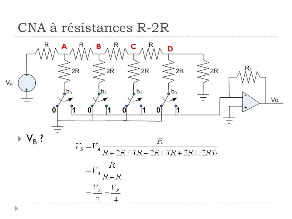 CNA à résistances R-2R V B ? ABC D