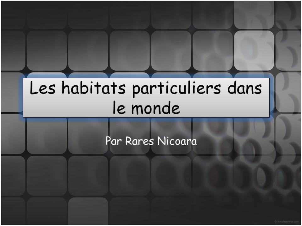 Les habitats particuliers dans le monde Par Rares Nicoara