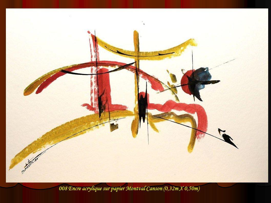 008 Encre acrylique sur papier Montval Canson (0,32m X 0,50m)