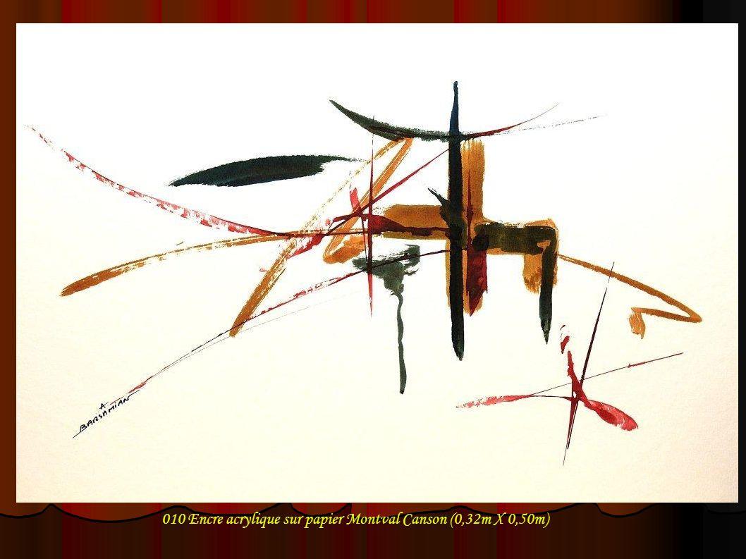 010 Encre acrylique sur papier Montval Canson (0,32m X 0,50m)