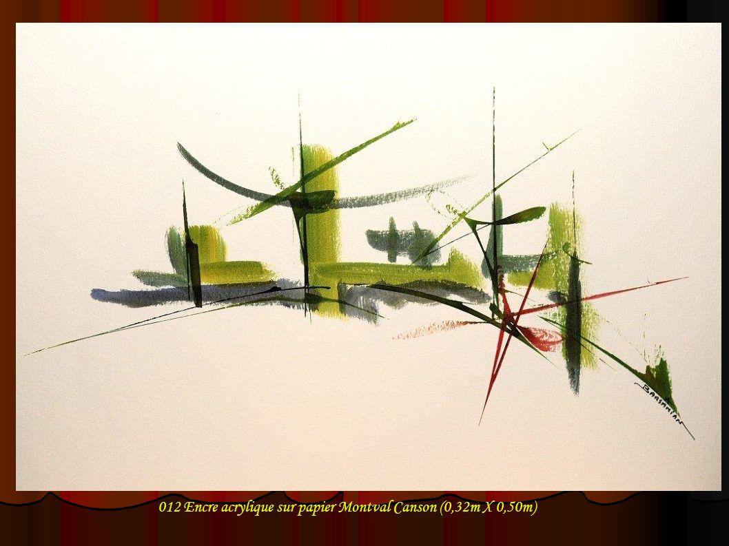 012 Encre acrylique sur papier Montval Canson (0,32m X 0,50m)