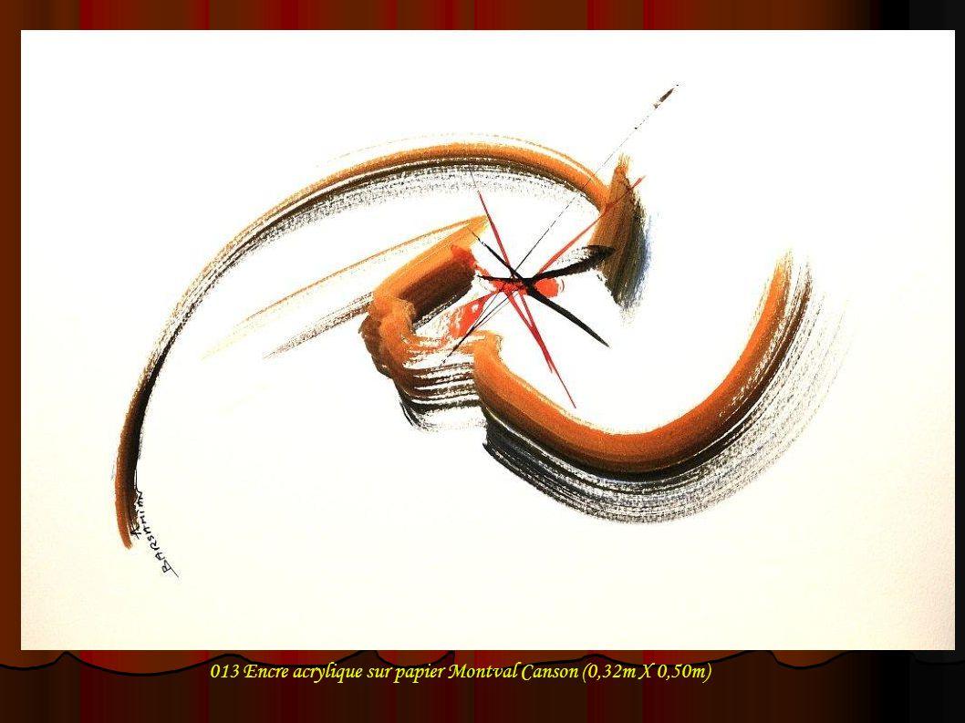 013 Encre acrylique sur papier Montval Canson (0,32m X 0,50m)