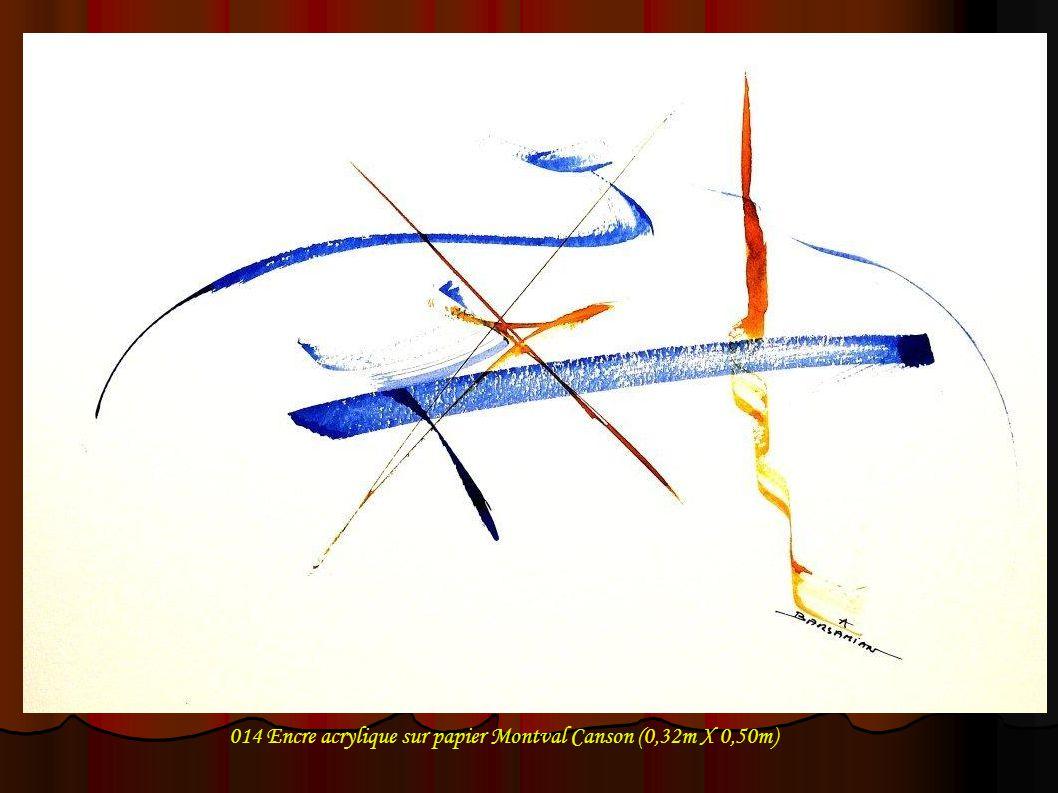 014 Encre acrylique sur papier Montval Canson (0,32m X 0,50m)