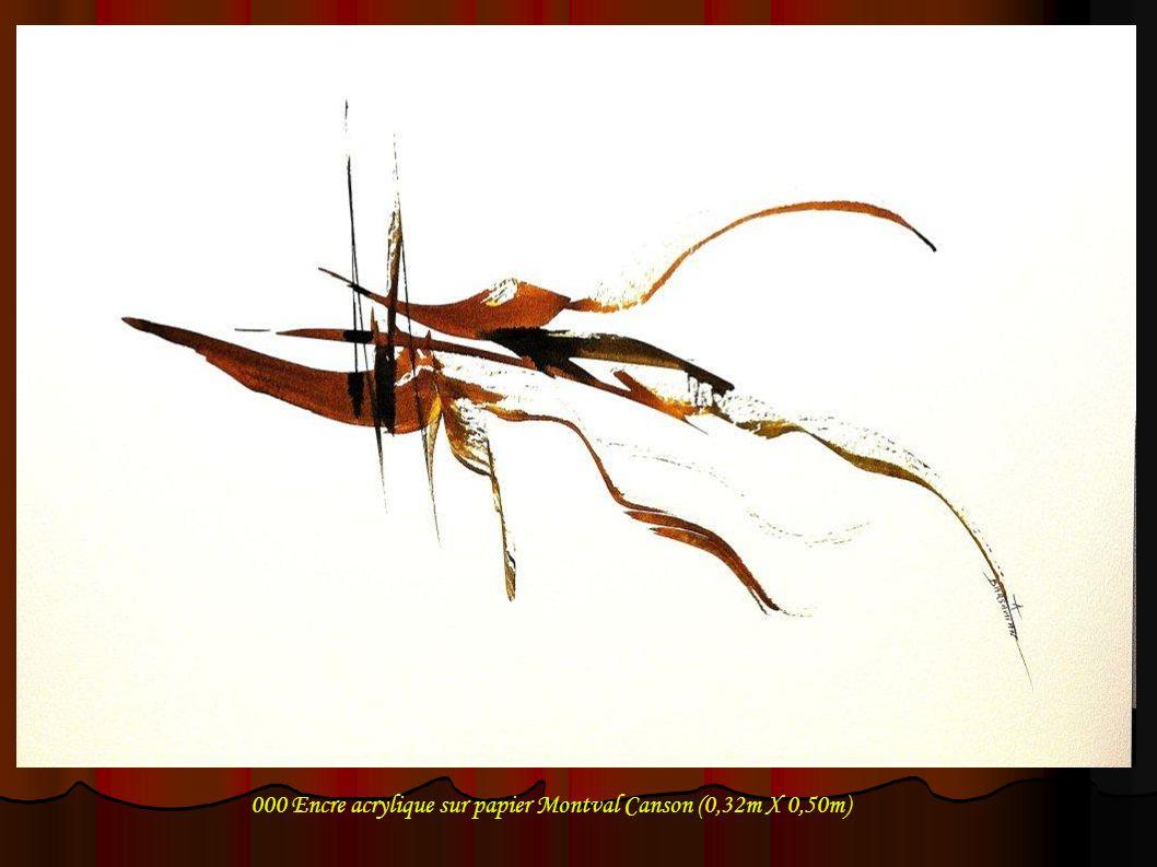 021 Encre acrylique sur papier Montval Canson (0,32m X 0,50m)