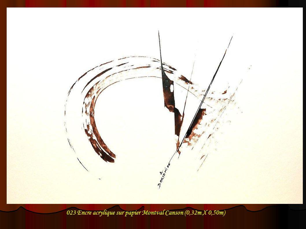 023 Encre acrylique sur papier Montval Canson (0,32m X 0,50m)