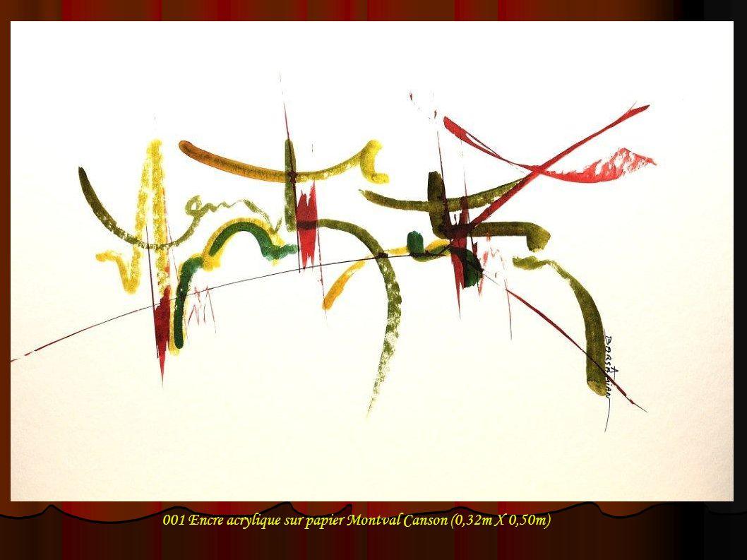 002 Encre acrylique sur papier Montval Canson (0,32m X 0,50m)