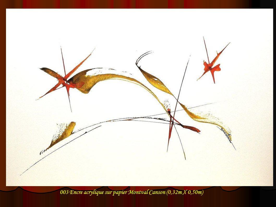 004 Encre acrylique sur papier Montval Canson (0,32m X 0,50m)