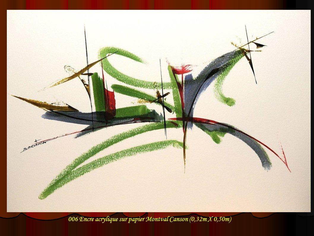 007 Encre acrylique sur papier Montval Canson (0,32m X 0,50m)