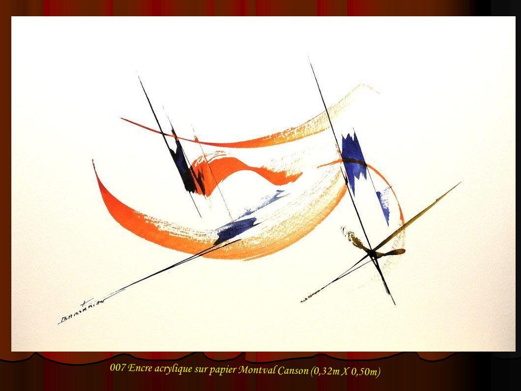 018 Encre acrylique sur papier Montval Canson (0,32m X 0,50m)