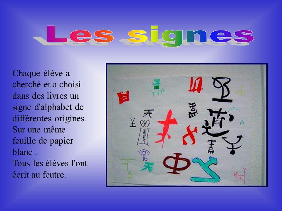 Au début, chaque objet était représenté par un signe : pour écrire, il fallait donc connaître des milliers de signes. Vers 1100 avant J-c, les habitan