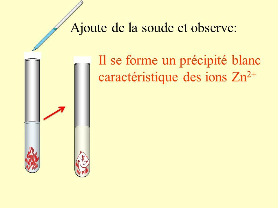 ajoute une spatule de zinc en poudre et observe: -La solution se décolore (les ions Cu 2+ « disparaissent » ) -la poudre de zinc se colore en rouge cuivré: il se forme du cuivre métallique (Cu) 0 -10 10 -20 -30 -40 70 60 50 40 30 20 100 90 80 °C Mesure à nouveau la température : La température a augmenté