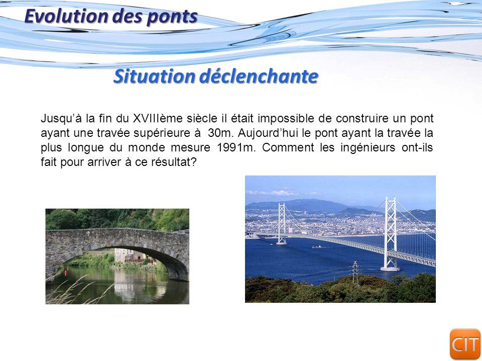 Page 14 Evolution des ponts Un pont en treillis est un pont dont les poutres latérales sont composées de barres métalliques triangulées, assemblées en treillis.