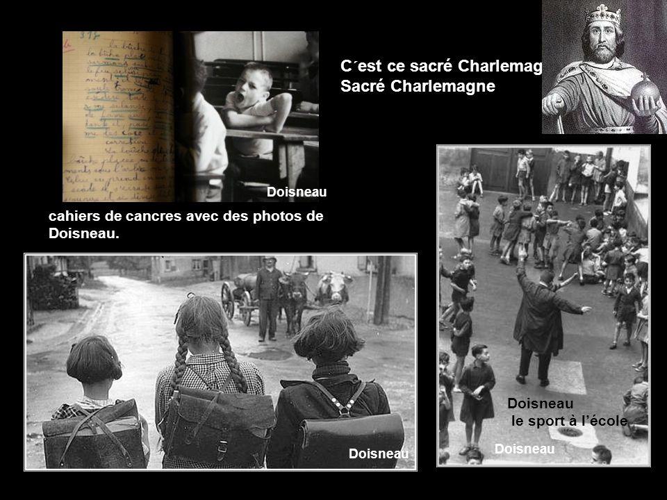 De nous laisser dans la vie Que les dimanches, les jeudis DOISNEAU Les enfants du manège PARIS 1954 Doisneau