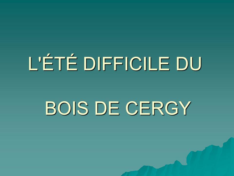 L ÉTÉ DIFFICILE DU BOIS DE CERGY