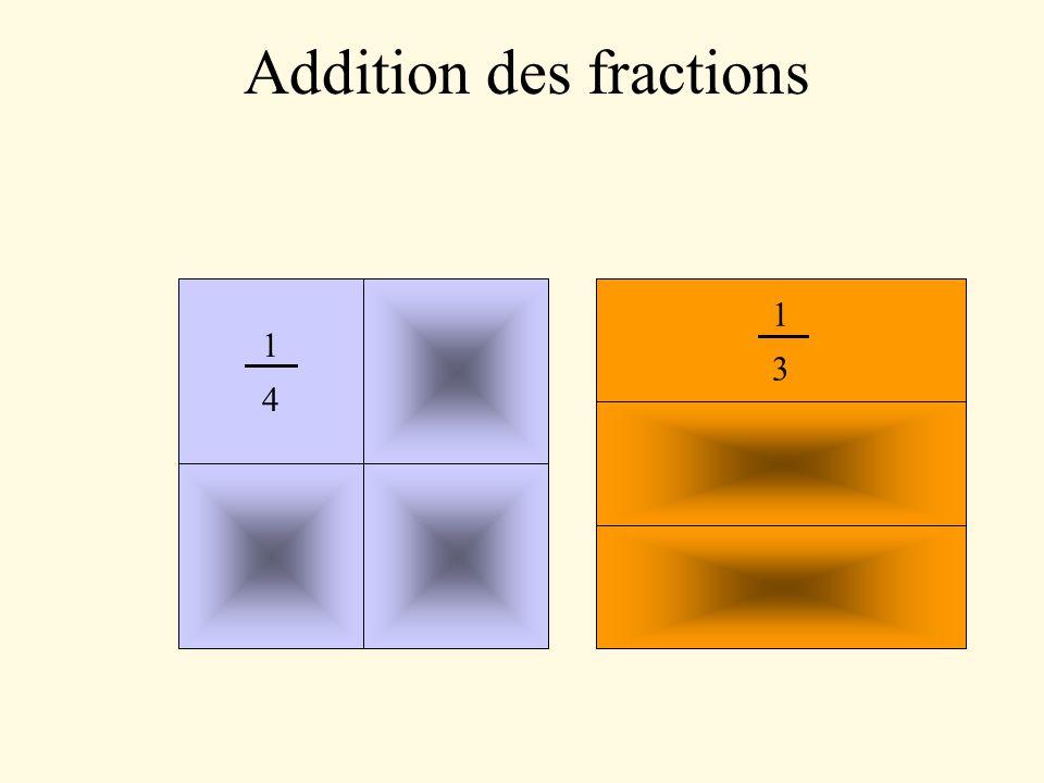 6 8 9 10 11 12 1 2 3 4 5 7 = 7 = 1 4 + 1 3 3 + 4 On peut maintenant compter les morceaux ensemble car ils sont de même taille.