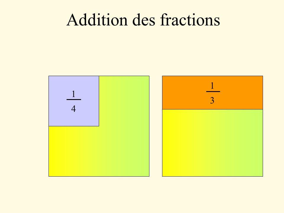 Addition des fractions 8 9 10 11 12 On peut maintenant compter les morceaux ensemble car ils sont de même taille.