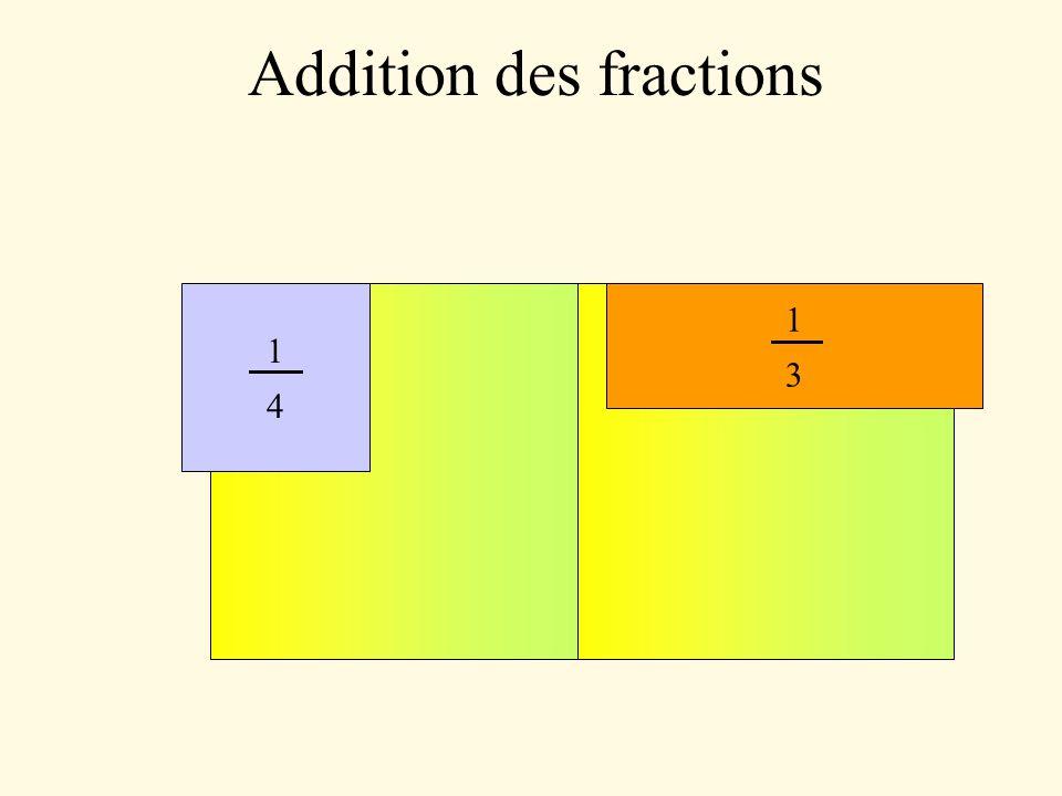 Addition des fractions = 19 9 = 4 3 + 7 9 12 + 7 99 = 47 12 = 7 6 + 11 4 14 + 33 12 = 47 24 = 5 8 + 4 3 15 + 32 24 = 103 126 = 13 42 + 32 63 39 + 64 126