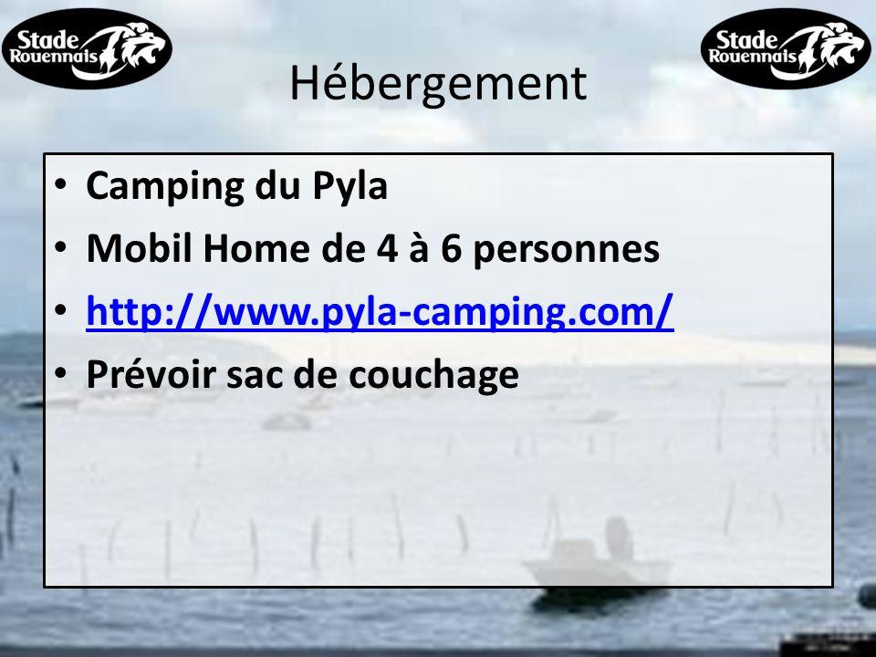 Hébergement Camping du Pyla Mobil Home de 4 à 6 personnes http://www.pyla-camping.com/ Prévoir sac de couchage