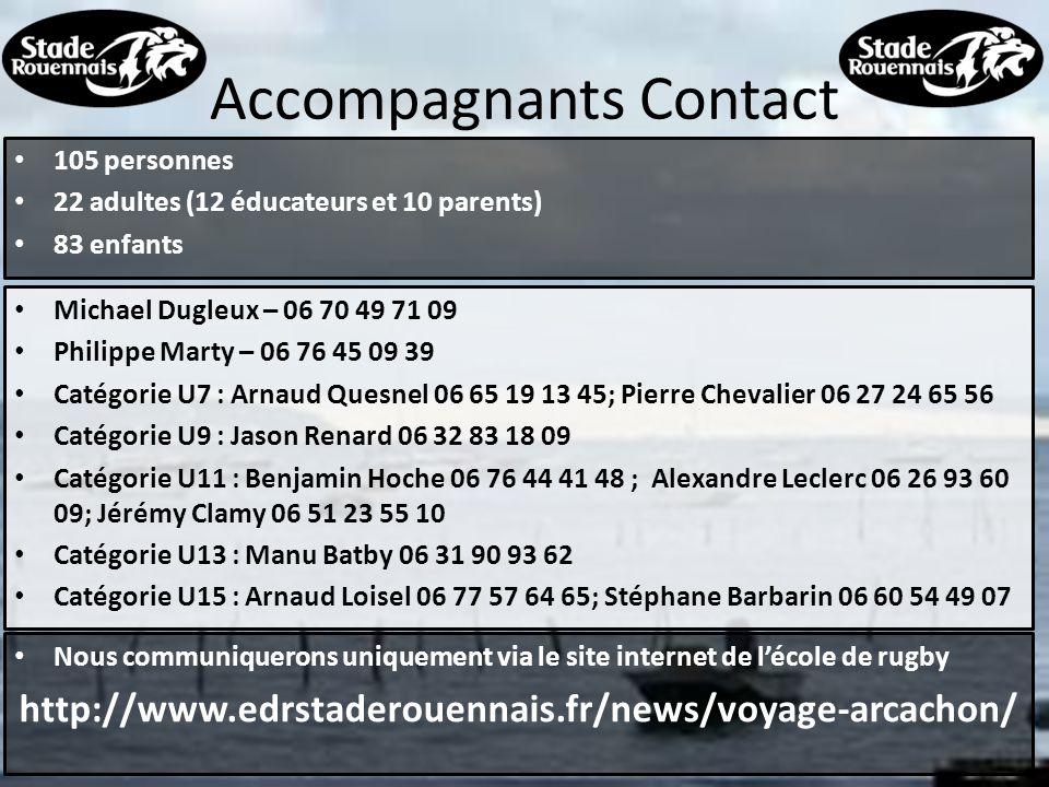 IMPORTANT Fiche de renseignement à retourner impérativement avant le jour du départ Ce document + la fiche de renseignement sont disponibles sur le site internet www.edrstaderouennais.fr