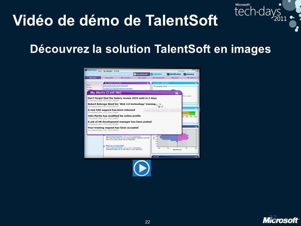 22 Vidéo de démo de TalentSoft Découvrez la solution TalentSoft en images 22