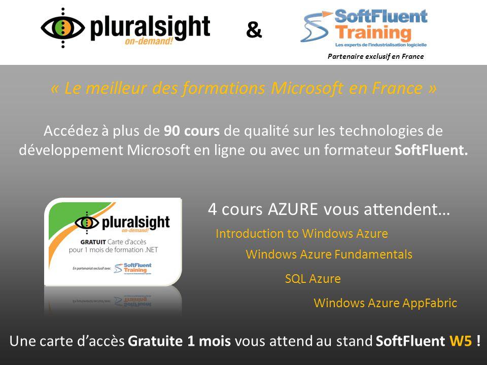 « Le meilleur des formations Microsoft en France » Accédez à plus de 90 cours de qualité sur les technologies de développement Microsoft en ligne ou a