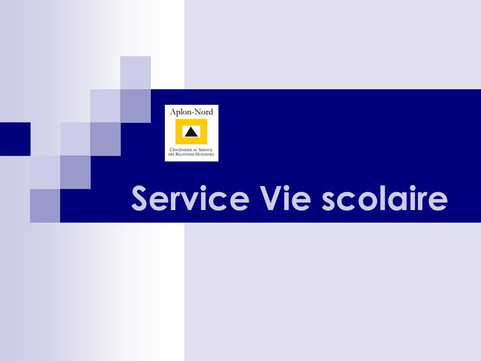 Présentation des services Vie scolaire En bref … Un service qui assure le relais dans tous les cas.