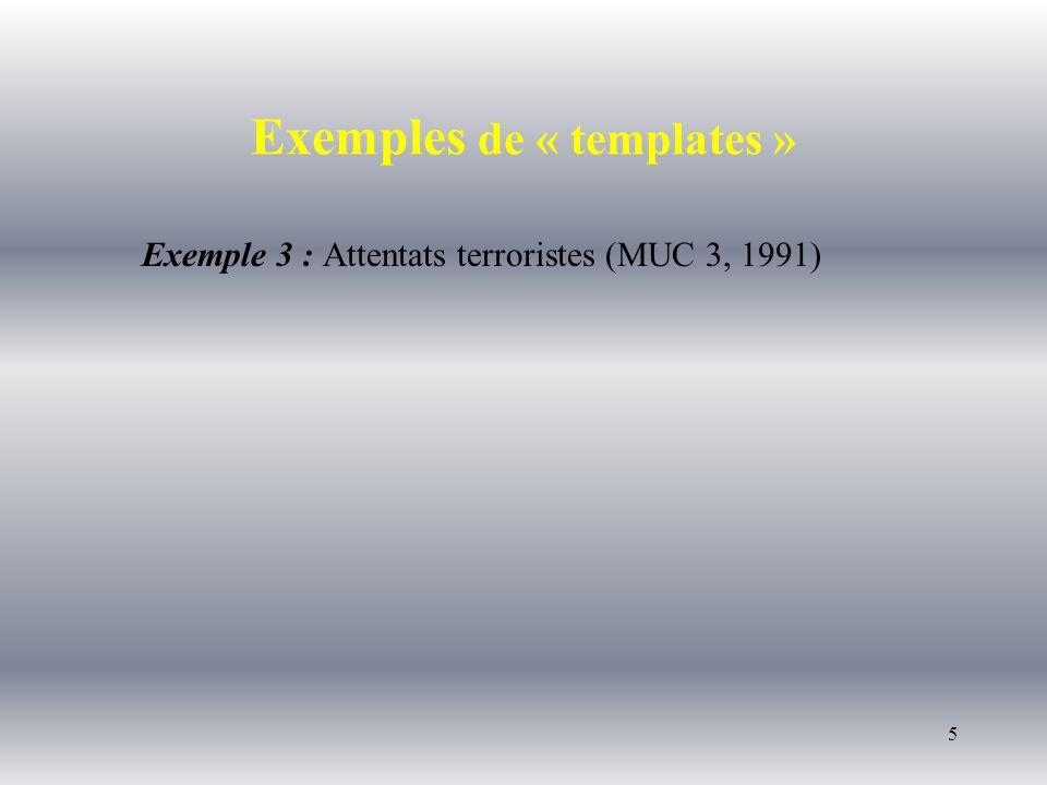26 (4) Coréférence Une bombe La charge de forte puissance [ e1 Une bombe ] a explosé ce matin, à [ 6:50 ] près_d [ e2 une centrale électrique ] à [ e3 San Salvador ].