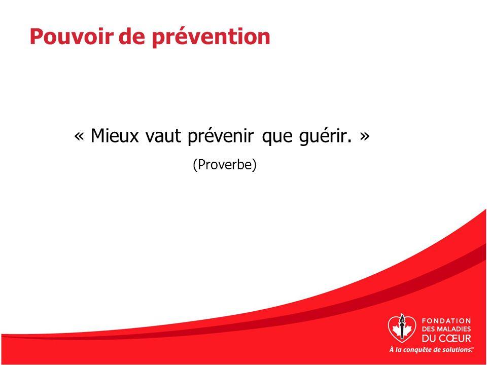 Pouvoir de prévention « Mieux vaut prévenir que guérir. » (Proverbe)