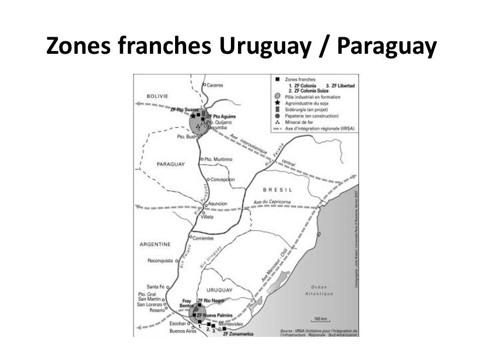 Zones franches Uruguay / Paraguay
