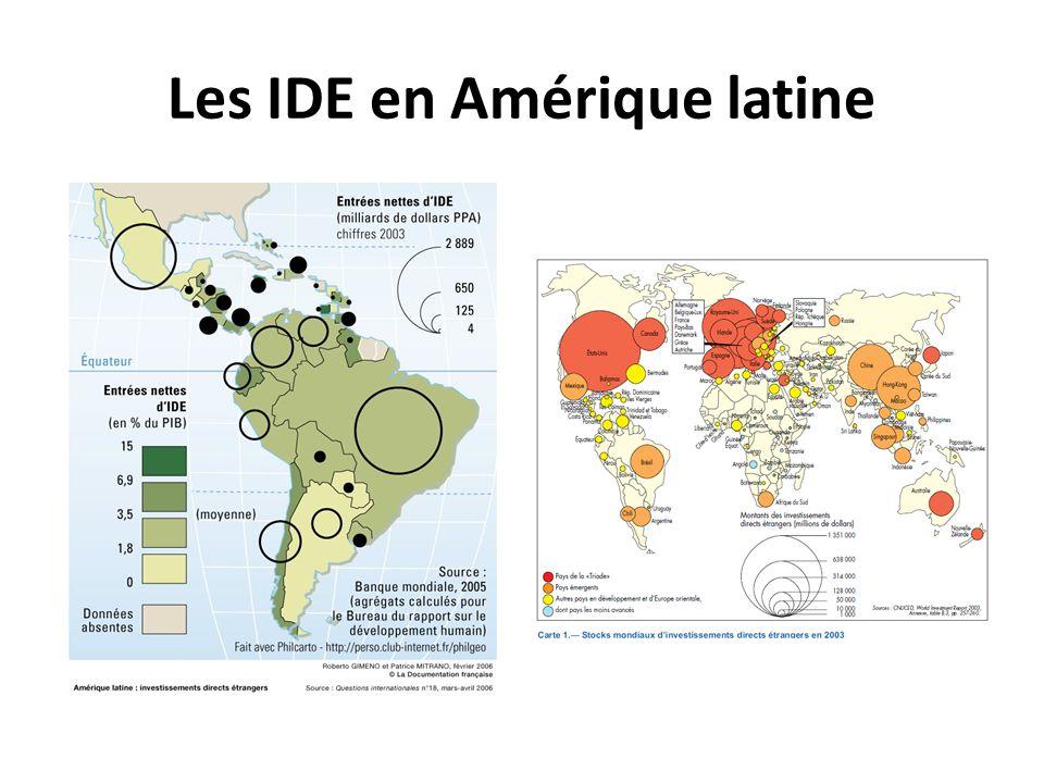 Les IDE en Amérique latine