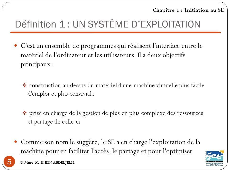 Définition 2 : UN SYSTÈME DEXPLOITATION 6 © Mme M.