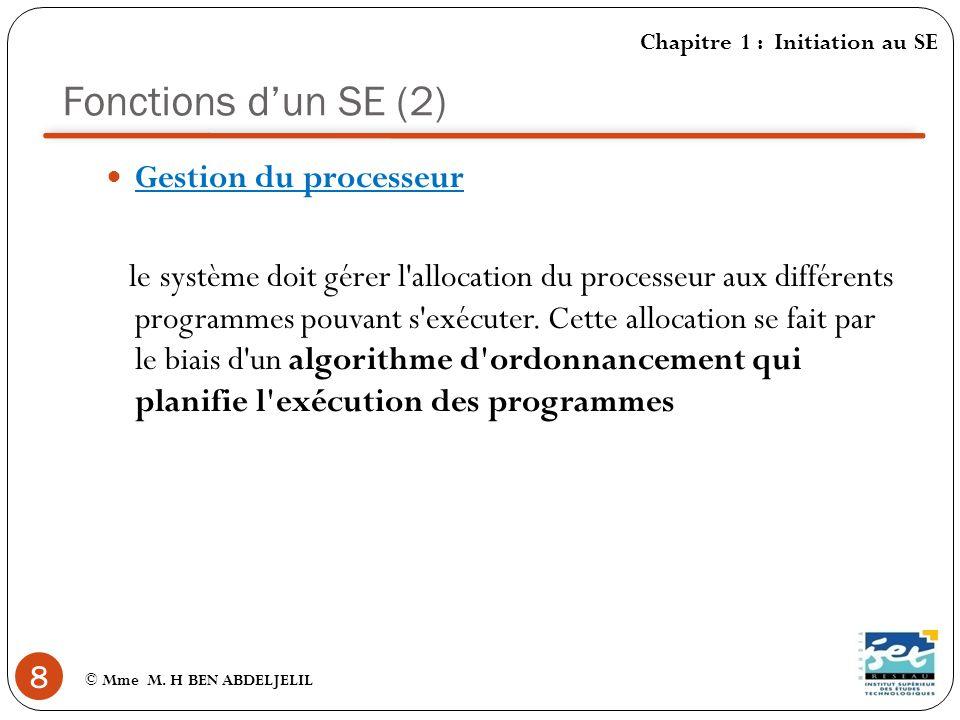 Fonctions dun SE (3) 9 © Mme M.
