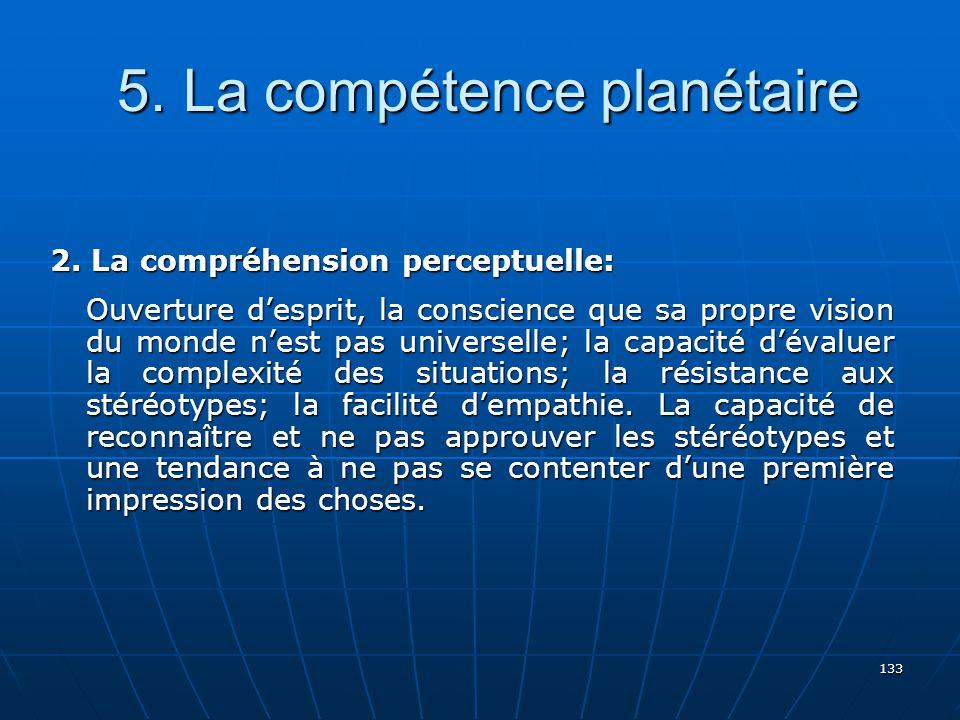 133 5.La compétence planétaire 5. La compétence planétaire 2.