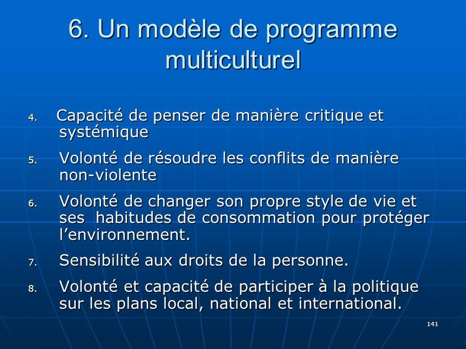 141 6.Un modèle de programme multiculturel 4.