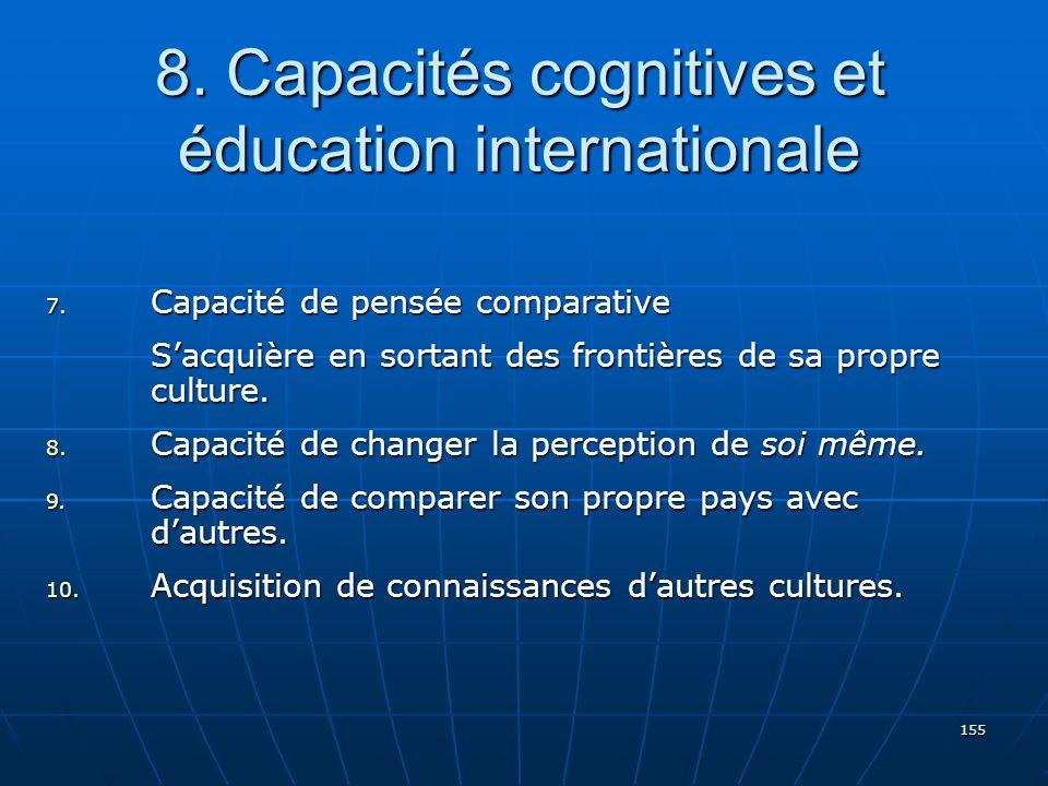 155 8.Capacités cognitives et éducation internationale 7.