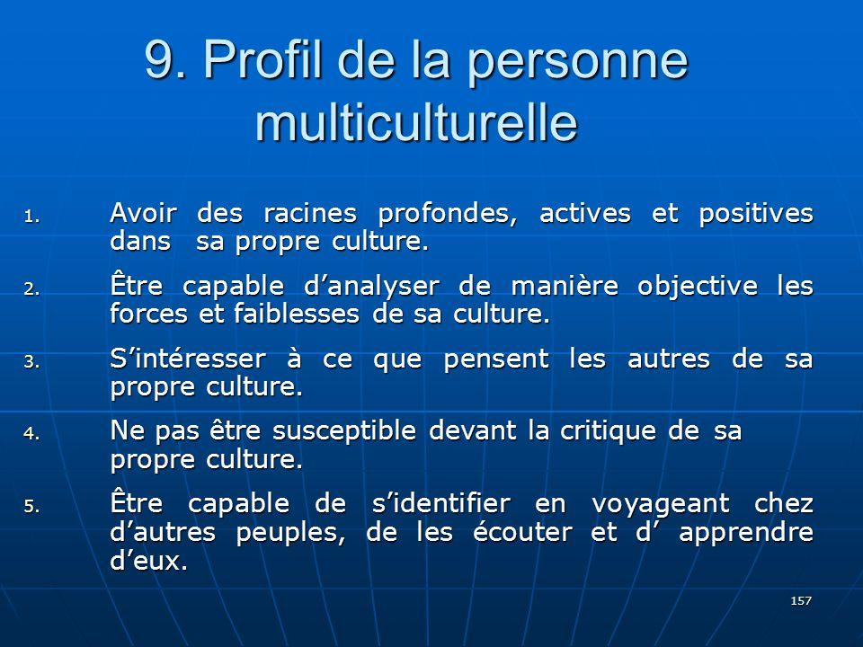 157 9.Profil de la personne multiculturelle 1.