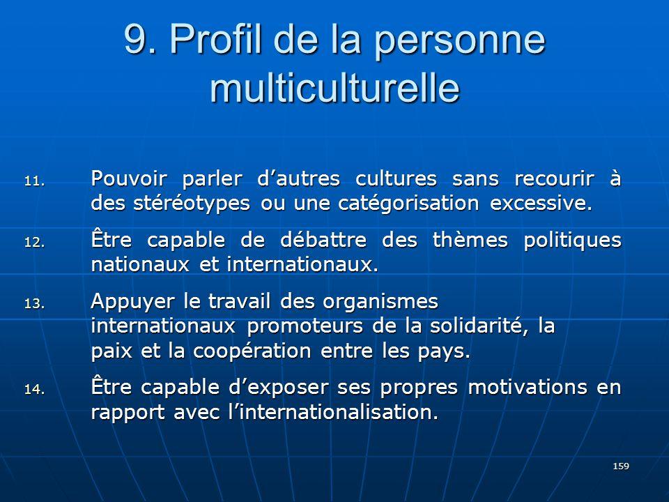 159 9.Profil de la personne multiculturelle 11.