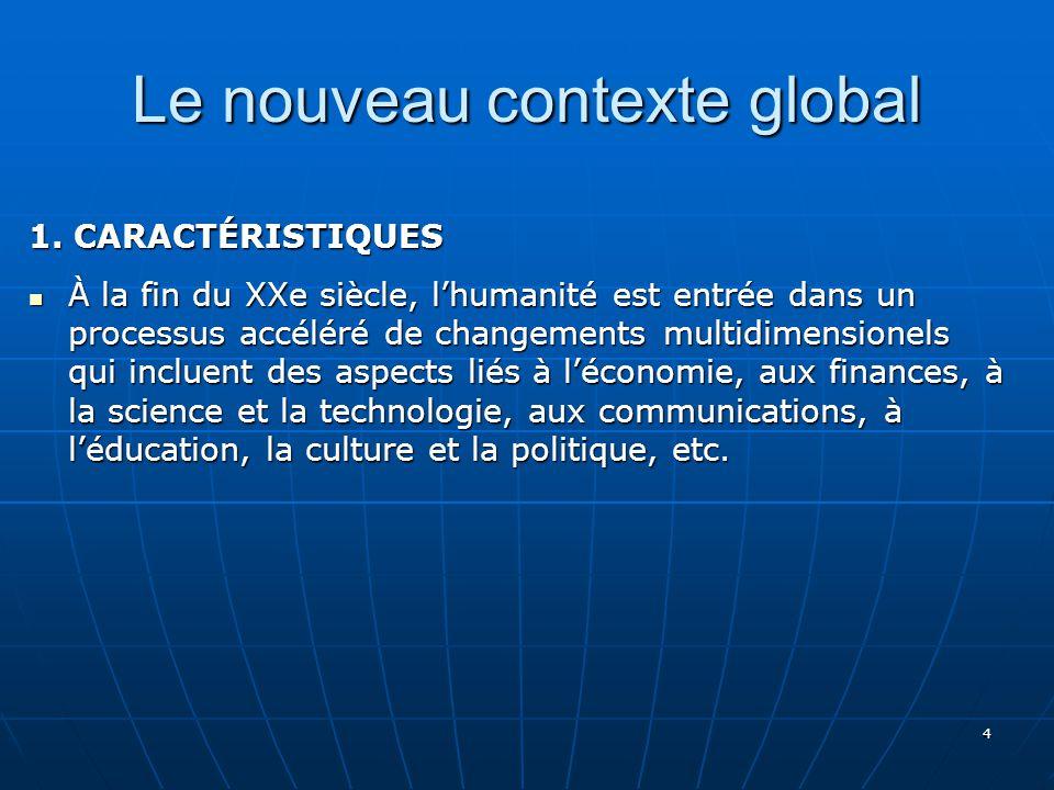 4 Le nouveau contexte global 1.