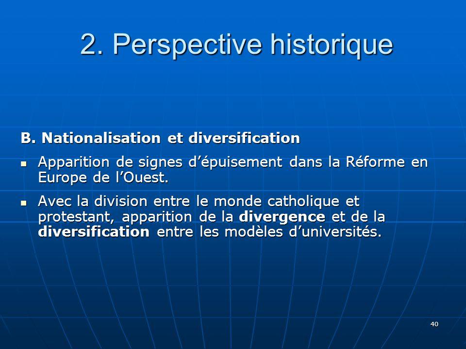 40 2.Perspective historique 2. Perspective historique B.