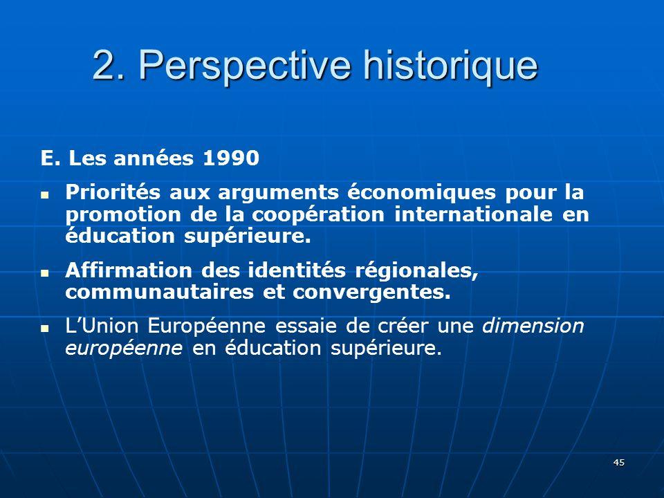 45 2.Perspective historique 2. Perspective historique E.