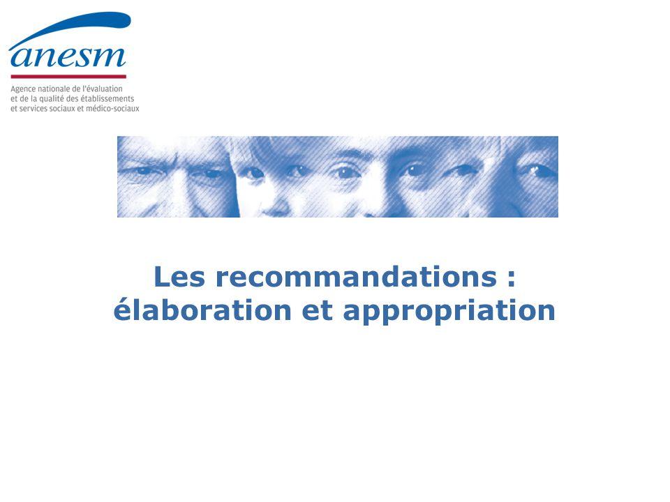 Les recommandations : élaboration et appropriation