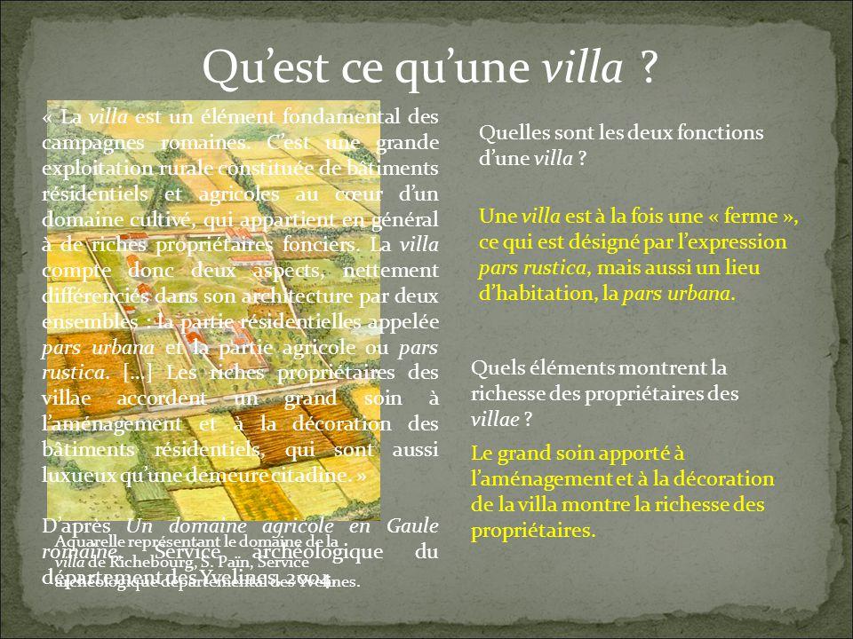 Quest ce quune villa . Aquarelle représentant le domaine de la villa de Richebourg, S.